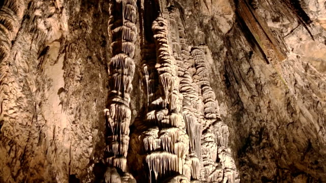 stalactite cave - limestone stock videos and b-roll footage
