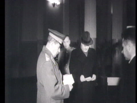 stalin and molotov putting ballot paper in box at kremlin / moscow russia audio - vyacheslav m. molotov stock videos and b-roll footage