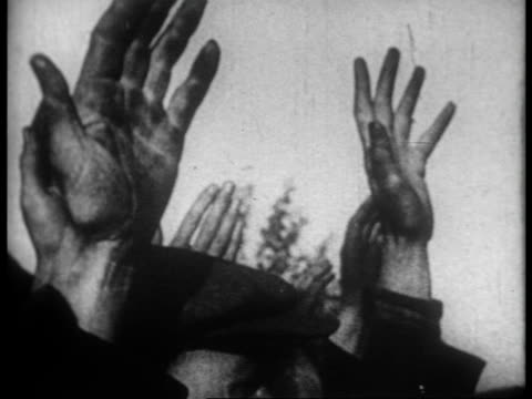stalin and soviet people vowing support for the antifascist fighters and sending eggs and food to the spanish people by ship / unloading food in... - 1936 stock videos and b-roll footage