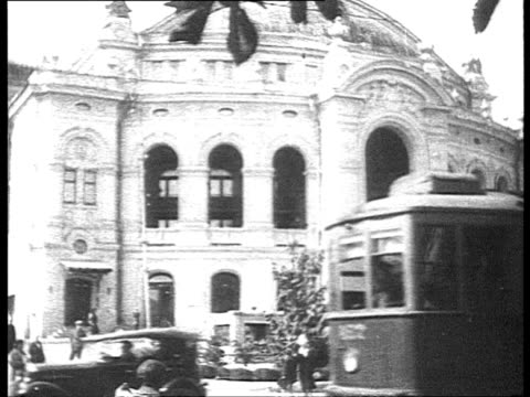 stockvideo's en b-roll-footage met stalinist architecture in kiev / ukraine, russia - 1935
