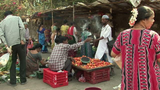 Stalls at street market / Dharavi Mumbai India