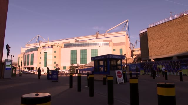 stamford bridge general views; england: london: ext various views of stamford bridge, the home ground of chelsea fc - general view stock videos & royalty-free footage