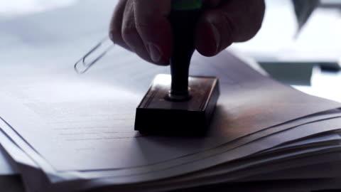 ok スタンプド co が - paperwork点の映像素材/bロール