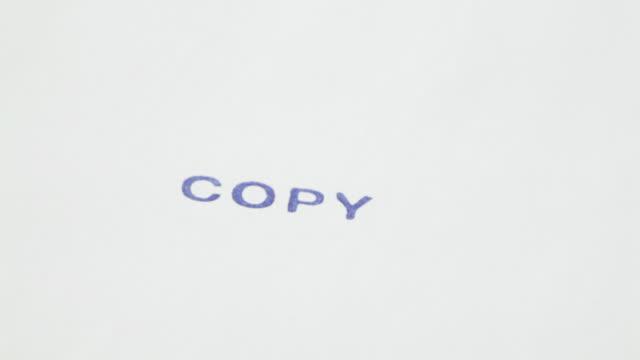 timbro con testo: copia - archivista video stock e b–roll