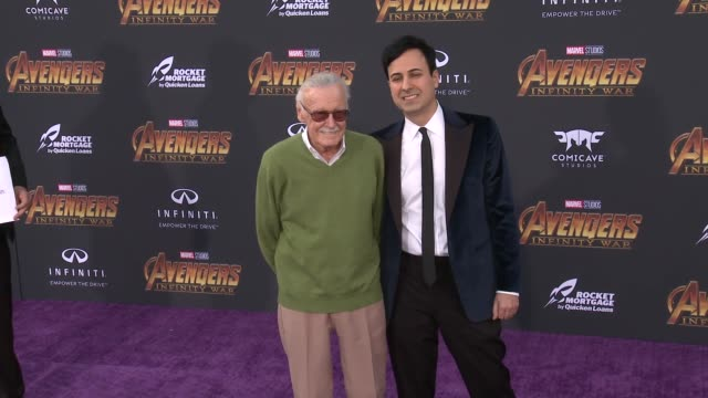 Stan Lee at the Avengers Infinity War World Premiere on April 23 2018 in Hollywood California
