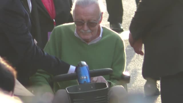 Stan Lee attends the Avengers Infinity War premiere in Hollywood in Celebrity Sightings in Los Angeles