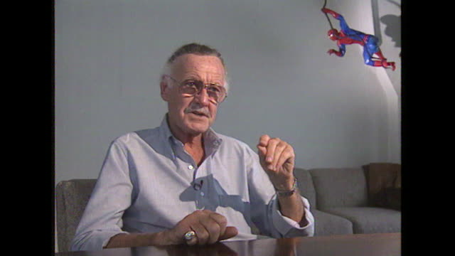 stan lee saying 'i also tried to do the stories so that they were intelligent' - 作品名 ファンタスティック・フォー点の映像素材/bロール