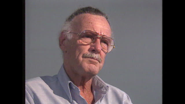 stan lee talks about his legacy saying 'i never for a minute suspected..that people would now be doing motion pictures [of his comic book characters]' - 作品名 ファンタスティック・フォー点の映像素材/bロール