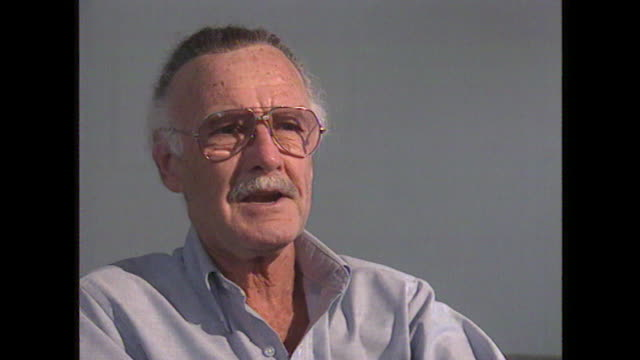 stan lee talks about peter parker saying 'he is not a guy who can do anything and never has a problem' - innovation stock videos & royalty-free footage