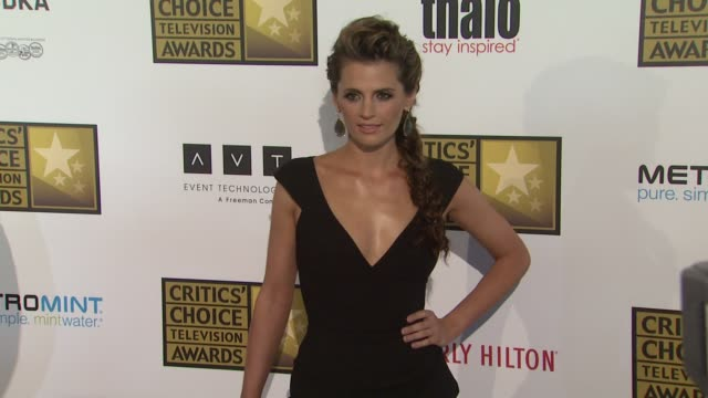 stana katic at 2012 critics' choice television awards stana katic at 2012 critics' choice television awa at the beverly hilton hotel on june 18 2012... - stana katic stock videos and b-roll footage