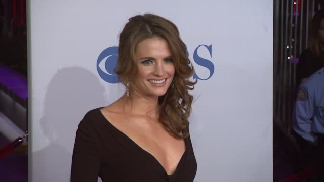 stana katic at 2012 people's choice awards arrivals on 1/11/12 in los angeles ca - stana katic stock videos and b-roll footage