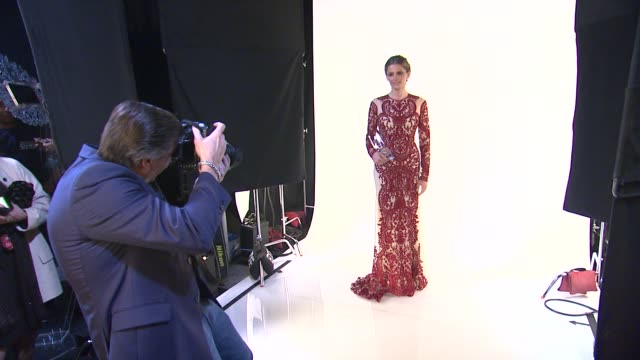 stana katic at 40th annual people's choice awards portrait room at nokia theatre la live on in los angeles california - stana katic stock videos and b-roll footage