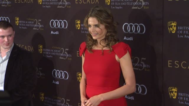 stana katic at bafta los angeles 18th annual awards season tea party on 1/14/2012 in beverly hills ca - stana katic stock videos and b-roll footage