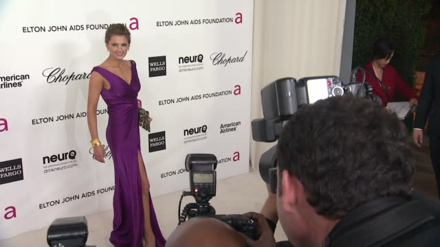 stana katic at elton john aids foundation celebrates 20th annual academy awards viewing party on 2/26/12 in hollywood ca - stana katic stock videos and b-roll footage