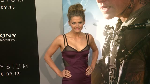 stana katic at elysium los angeles premiere on 8/7/2013 in westwood ca - stana katic stock videos and b-roll footage