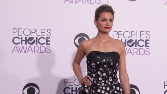stana katic at people's choice awards 2015 in los angeles ca - stana katic stock videos and b-roll footage