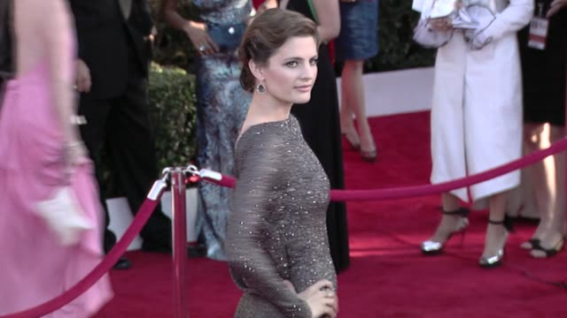 stana katic at the 16th annual screen actors guild awards arrivals at los angeles ca - stana katic stock videos and b-roll footage