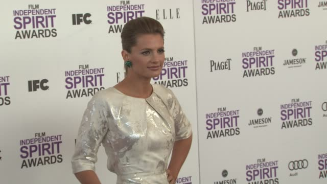 stana katic at the 2012 film independent spirit awards arrivals on 2/25/12 in santa monica ca united states - stana katic stock videos and b-roll footage