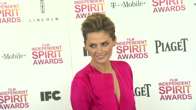 stana katic at the 2013 film independent spirit awards arrivals on 2/23/13 in santa monica ca - stana katic stock videos and b-roll footage