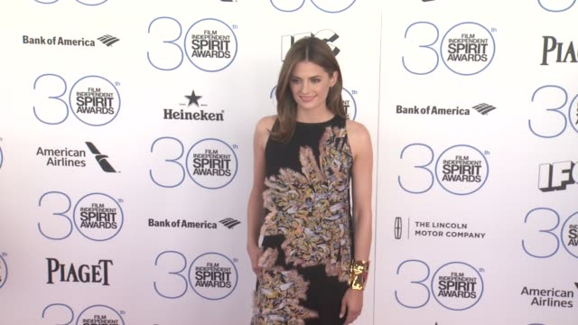 stana katic at the 30th annual film independent spirit awards arrivals at santa monica beach on february 21 2015 in santa monica california - stana katic stock videos and b-roll footage