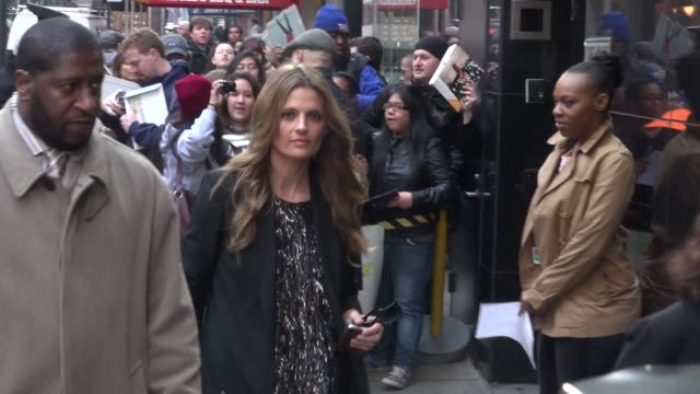 stana katic at the 'good morning america' studio in new york ny on 4/1/13 - stana katic stock videos and b-roll footage