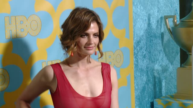 stana katic at the hbo's post 2015 golden globe awards party at the beverly hilton hotel on january 11 2015 in beverly hills california - stana katic stock videos and b-roll footage