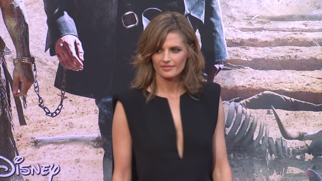 stana katic at the lone ranger los angeles premiere stana katic at the lone ranger los angeles premi at disney california adventure park on june 22... - the lone ranger 2013 film stock videos and b-roll footage