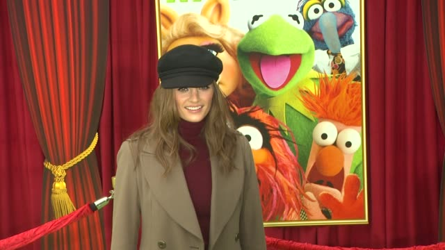 stana katic at the the world premiere of walt disney's 'the muppets' at hollywood ca - stana katic stock videos and b-roll footage