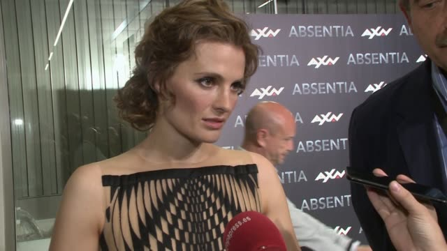 stana katic attends absentia madrid premiere - stana katic stock videos and b-roll footage