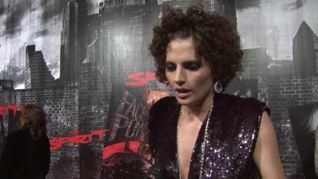 stana katic on her character the style of the film at the 'the spirit' premiere at los angeles ca - stana katic stock videos and b-roll footage