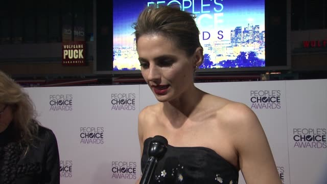 interview stana katic on what her nomination means to her at people's choice awards 2015 in los angeles ca - stana katic stock videos and b-roll footage