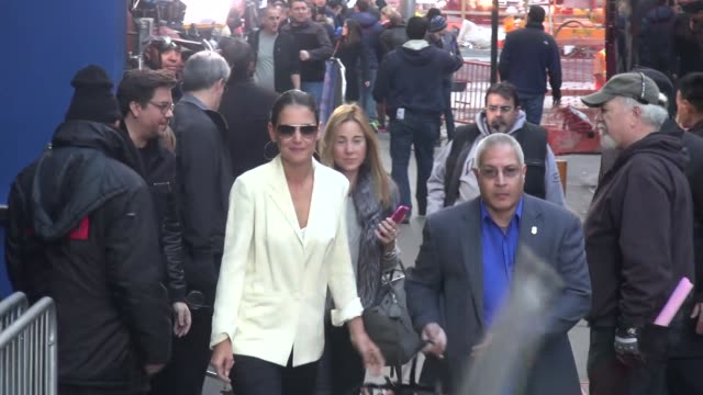 stana katic visiting the good morning america show and siriusxm and greeting fans at celebrity sightings in new york on november 10 2014 in new york... - stana katic stock videos and b-roll footage