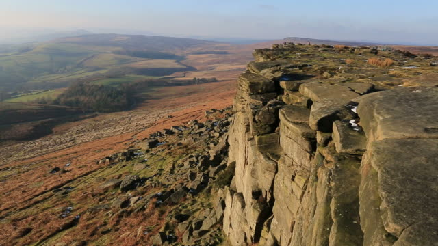 Stanage Edge, Derbyshire, Peak District National Park, England