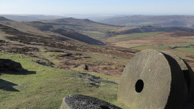 Stanage Edge Millstones, Derbyshire, England, UK, Europe
