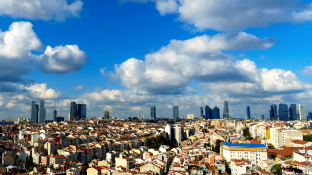 i̇stanbul cityscape time lapse - clear sky stock videos & royalty-free footage