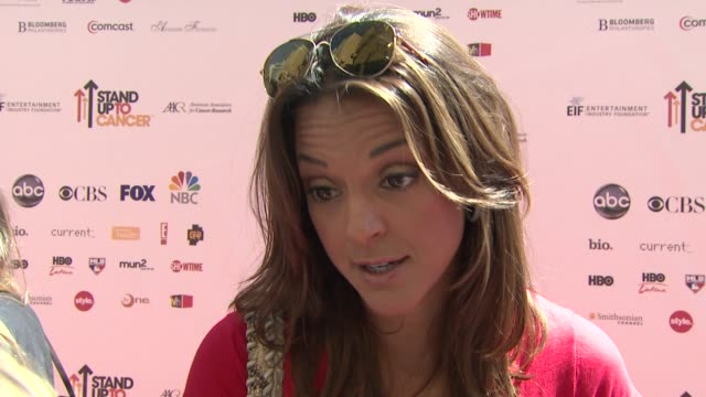 stand up to cancer los angeles ca united states 9/10/2010 - eva larue stock videos and b-roll footage