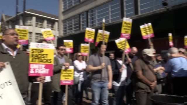 stand up to racism hold a unity protest in croydon following the attack on 17yearold asylum seeker reker ahmed - racism stock videos & royalty-free footage