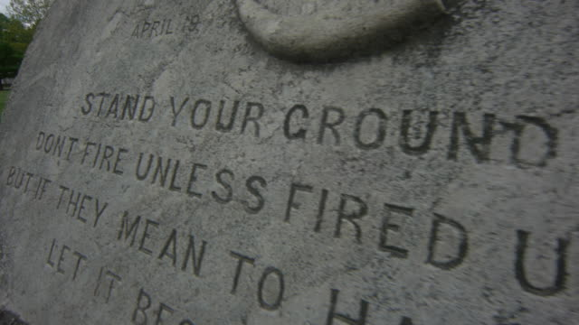 stand your ground monument in lexington common - lexington massachusetts stock videos & royalty-free footage