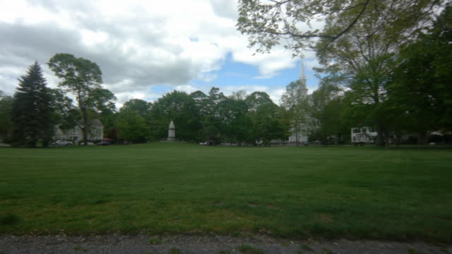 stand your ground stone monument in lexington common - lexington massachusetts stock videos & royalty-free footage
