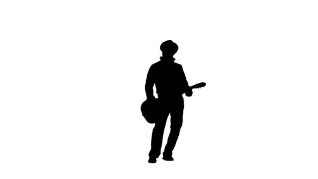 Standing guitar player