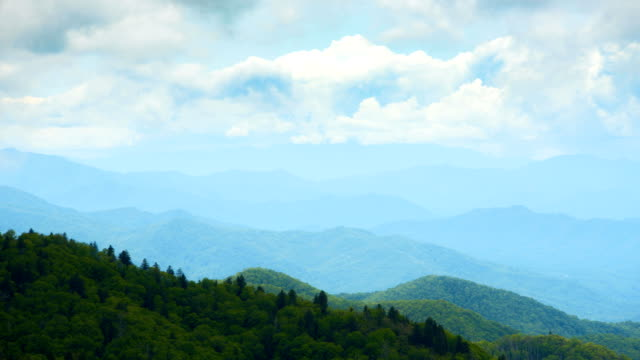 standing on top of a mountain watching the clouds move by - appalachia stock videos & royalty-free footage