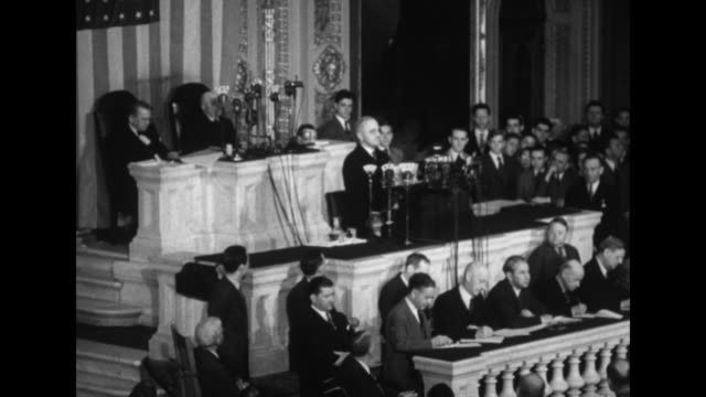 vs standing ovations in the house of representatives chamber of the us capitol prior to pres harry truman's address to a joint session of congress /... - humility stock videos and b-roll footage