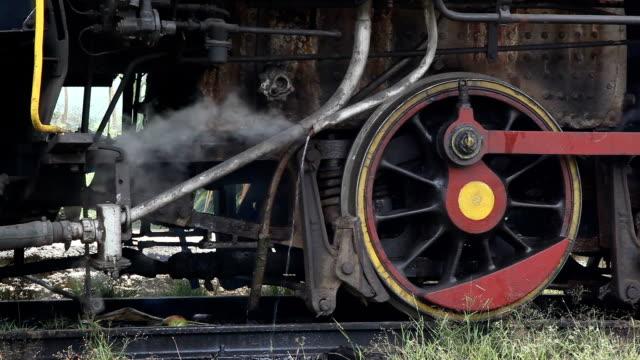 standing steam train