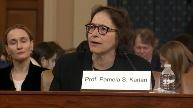 stanford law professor pamela karlan tells the house judiciary committee in her statement at its first impeachment inquiry hearing against president... - escape key stock videos & royalty-free footage