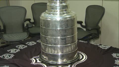 stanley cup arrives at tribune tower on july 09, 2013 in chicago, illinois - torre del tribune video stock e b–roll
