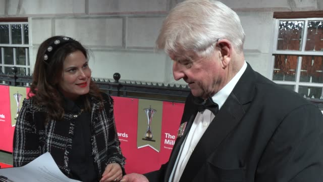 stanley johnson on the awards and selfies at banqueting house on february 06 2020 in london england - photography themes stock videos & royalty-free footage