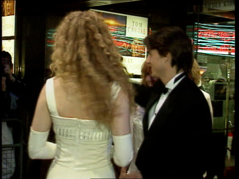 stanley kubrick dies lib london tom cruise nicole kidman at film premiere of 'far and away' - nicole kidman stock videos & royalty-free footage