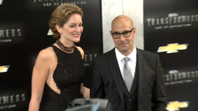 Stanley Tucci and Felicity Blunt at Transformers Age Of Extinction New York Premiere at Ziegfeld Theatre on June 25 2014 in New York City
