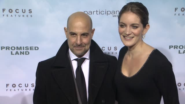 stanley tucci at promised land new york premiere presented by focus features at amc loews lincoln square 13 theater on december 04 2012 in new york... - amc loews stock videos and b-roll footage