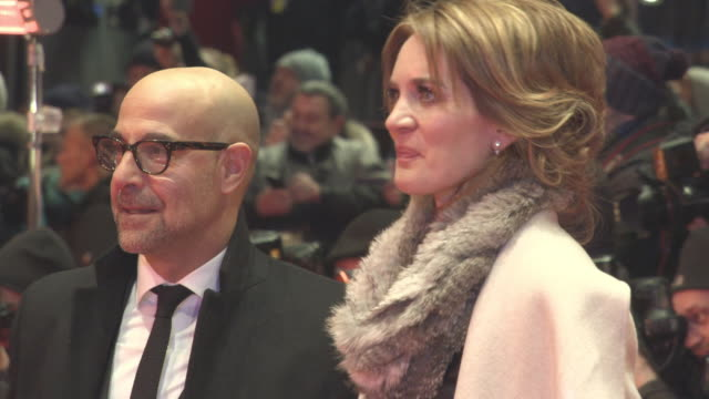 Stanley Tucci Felicity Blunt at Berlin Film Festival 'Final Portrait' Red Carpet at Berlinale Palast on February 11 2017 in Berlin Germany